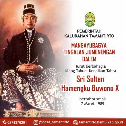 Memperingati Kenaikan Tahta Sultan,Bupati Bantul Menghimbau Untuk Melaksanakan Doa Bersama