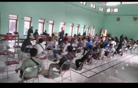 Pemeriksaan Kesehatan KPPS Desa Tamantirto oleh Tim Puskesmas Kasihan 1