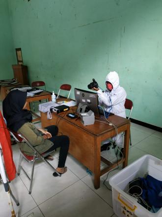 Perekaman KTP Elektronik Oleh Disdukcapil Bantul Di Desa Tamantirto