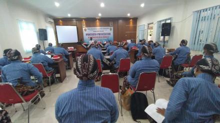 Pembukaan Pelatihan Pawiyatan Pranatacara oleh DInas Kundha Kabudayan Bantul Tahun 2021