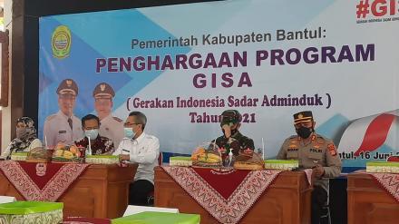 Penghargaan Program GISA (Gerakan Indonesia Sadar Adminduk) Tahun 2021